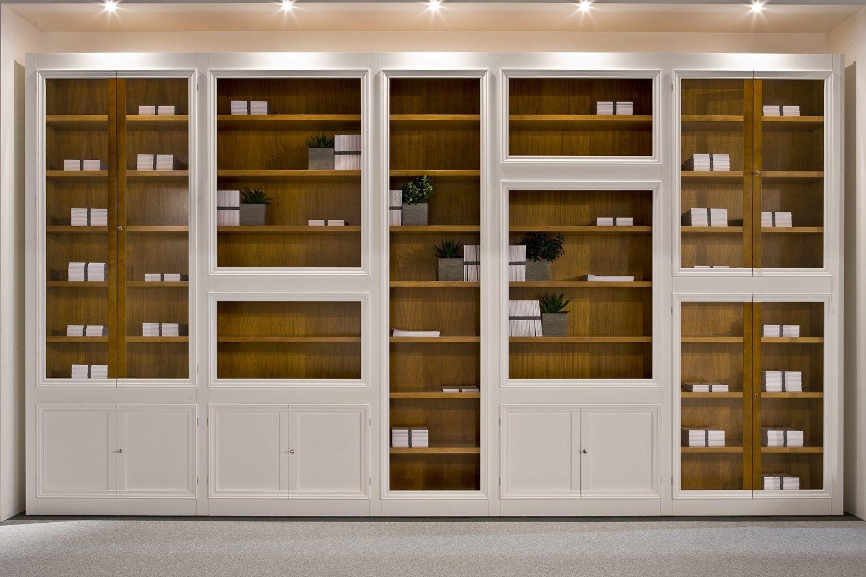 Maschera libreria in ciliegio by morelato design centro for Morelato librerie