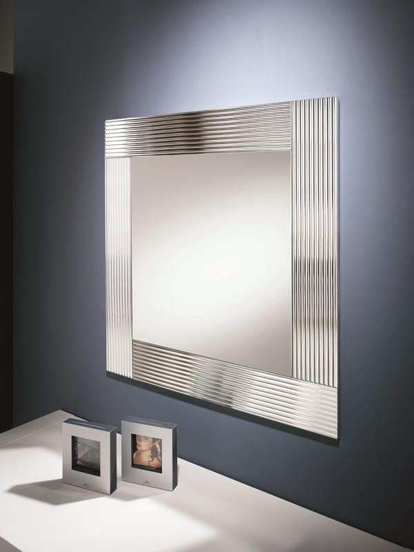 Miroir Mural Avec Cadre Flute By Riflessi Design Riflessi