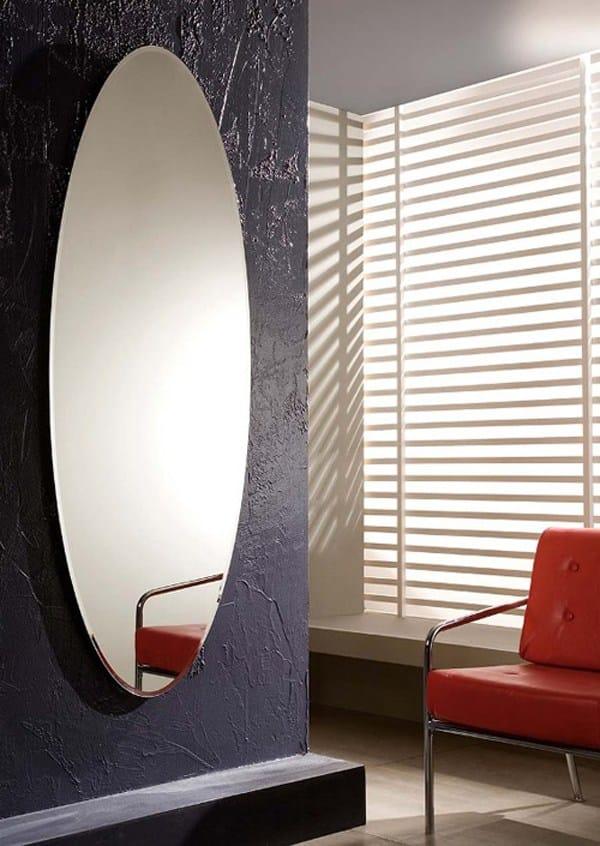 Specchio Ovale A Parete Ionico By Riflessi Design Riflessi