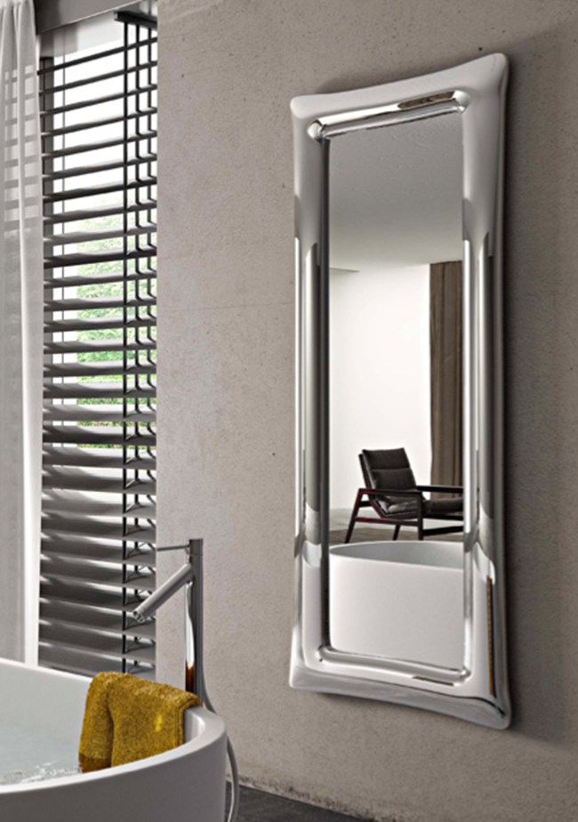Specchio rettangolare a parete con cornice SINUO by ...