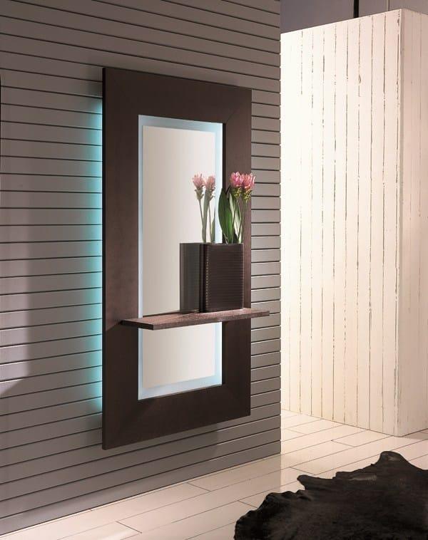 Specchio a parete con cornice sibilla by riflessi design - Parete a specchio ...