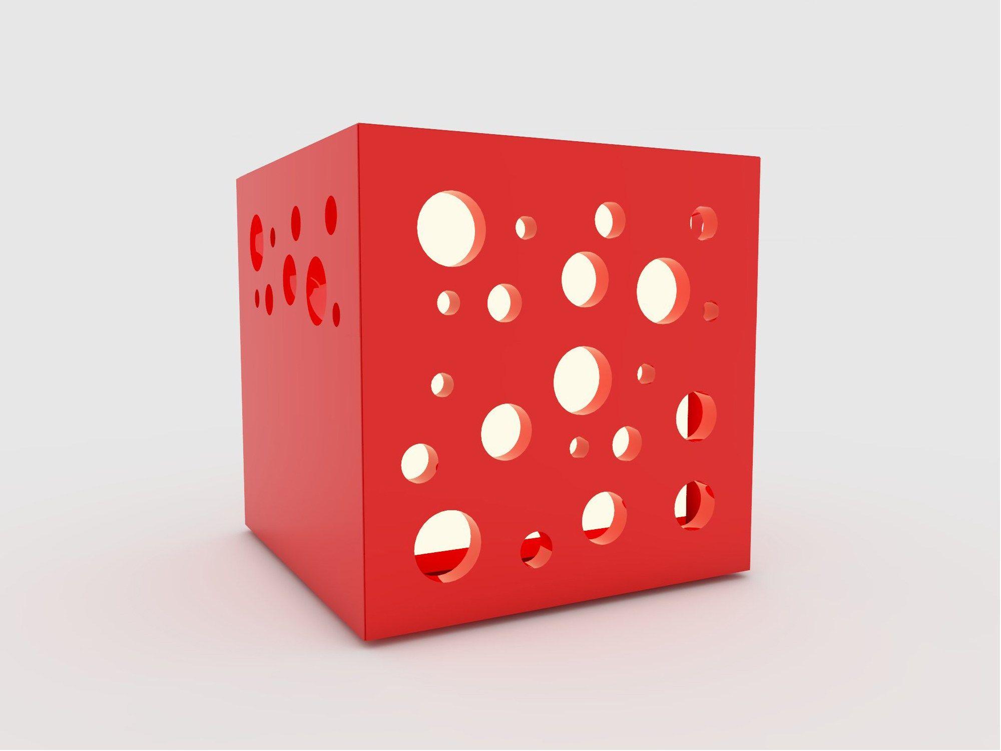 cube nachttischlampe serie cubezuri design