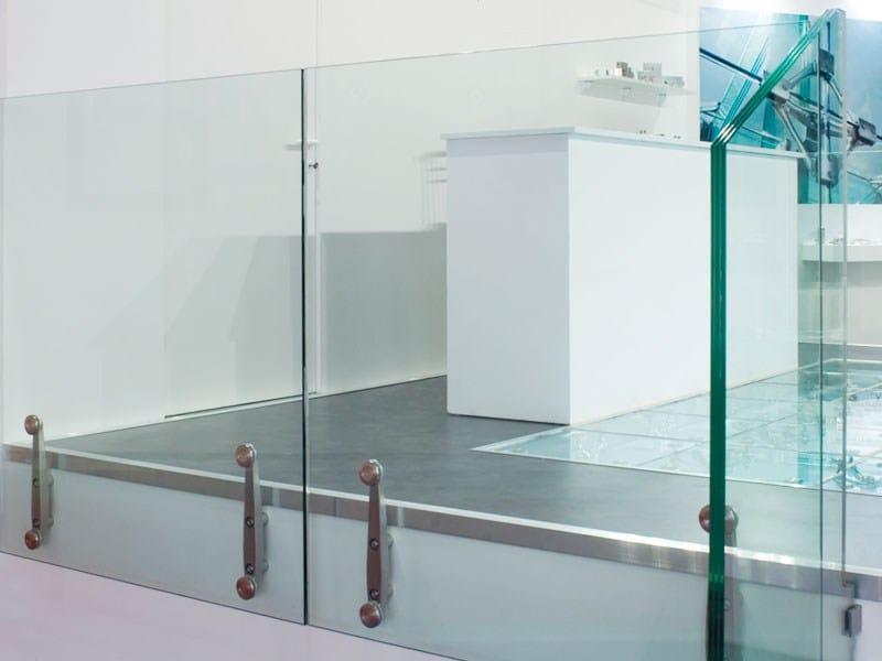 Supporto per parapetti in vetro vetra supporto per parapetti serie vetra accessori per scale - Parapetti in vetro per scale ...