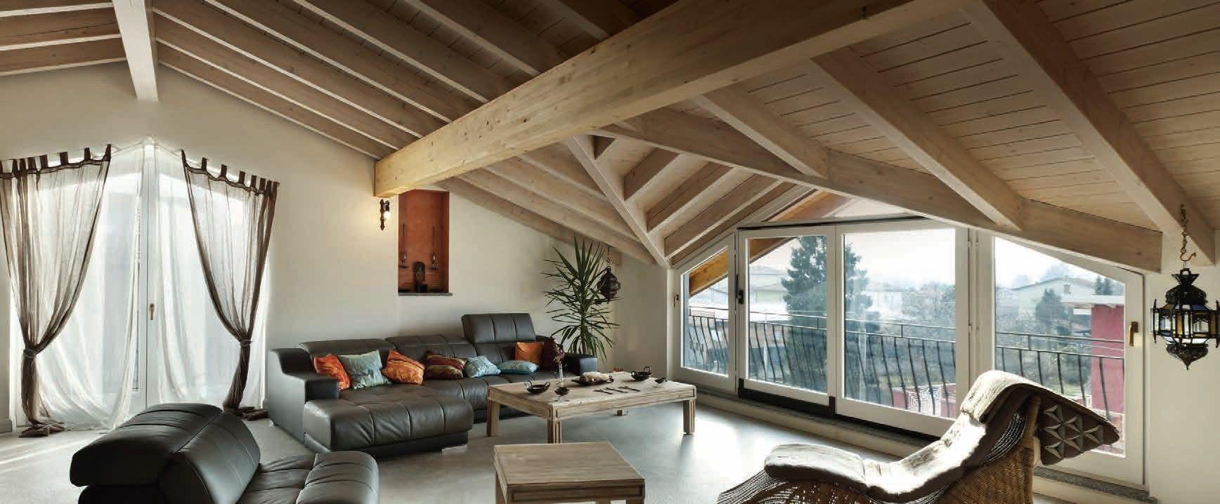 Herreria idee balcone - Tetto in legno bianco ...