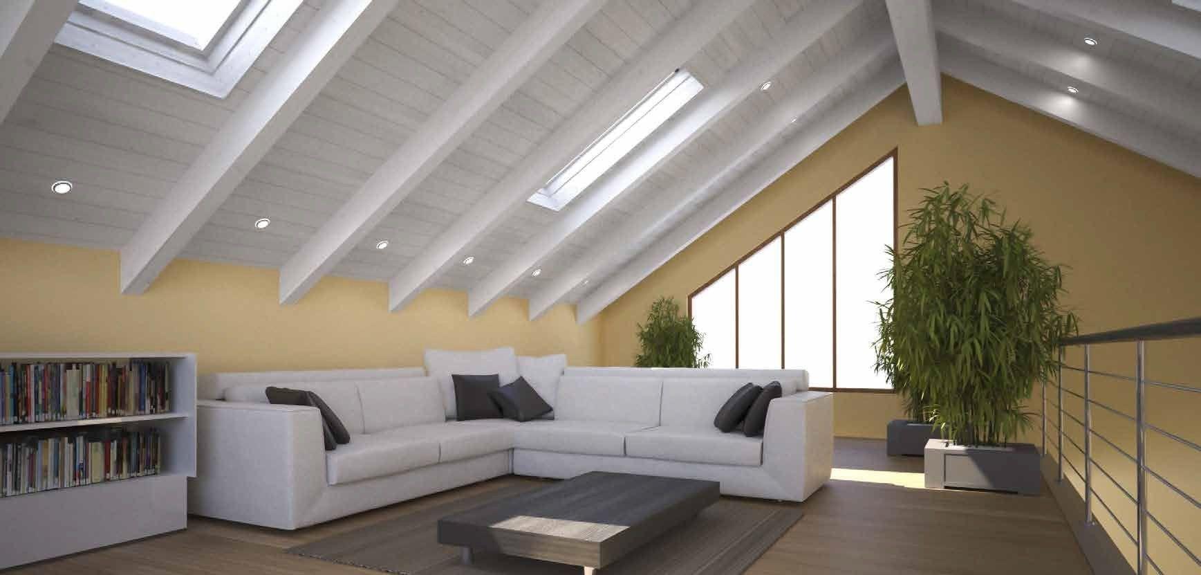 Faretti tetto in legno design per la casa idee per interni - Tetto in legno interno ...