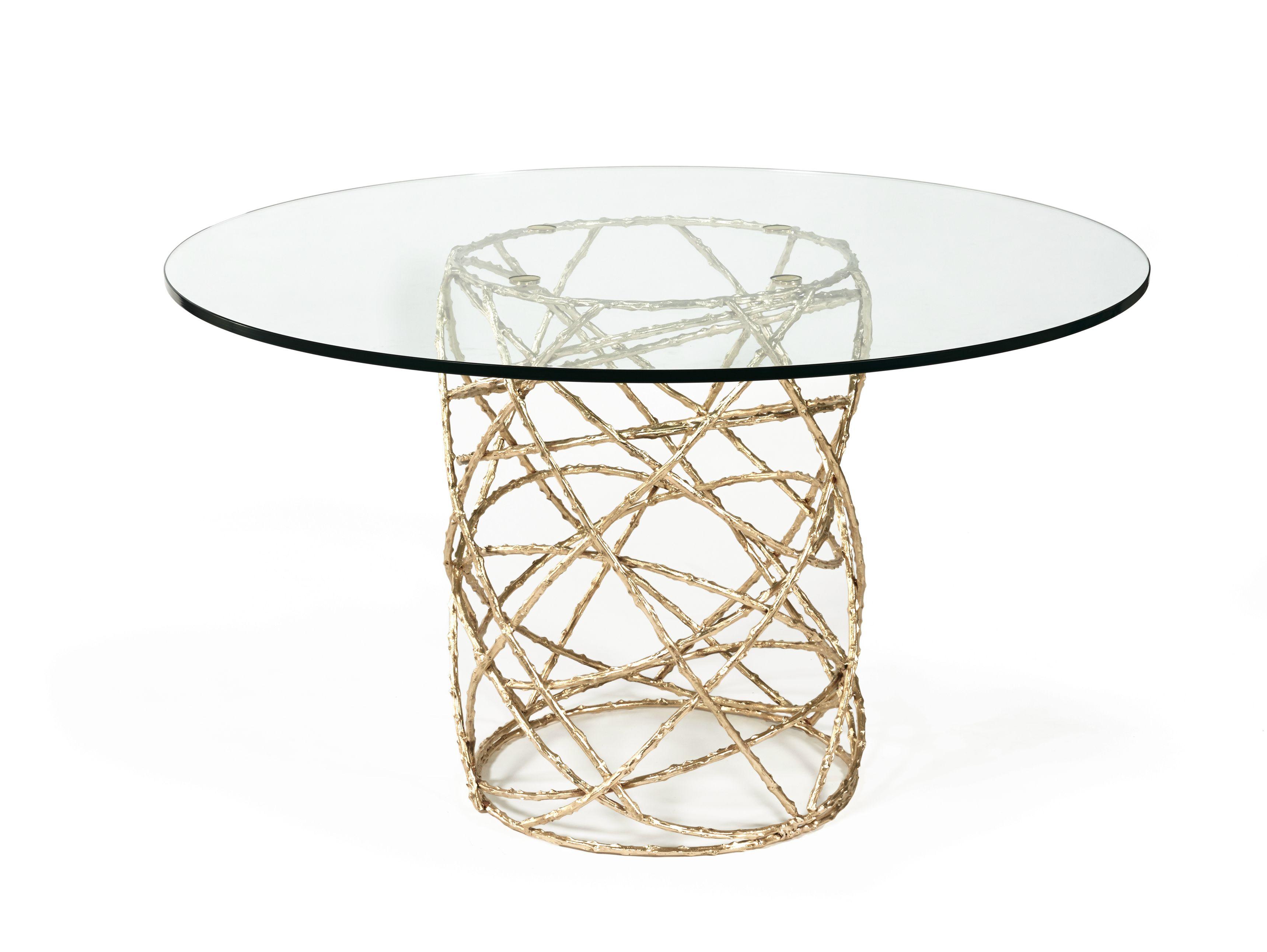 Table de salon ronde en verre rosebush collection earth to - Table de salon ronde en verre ...