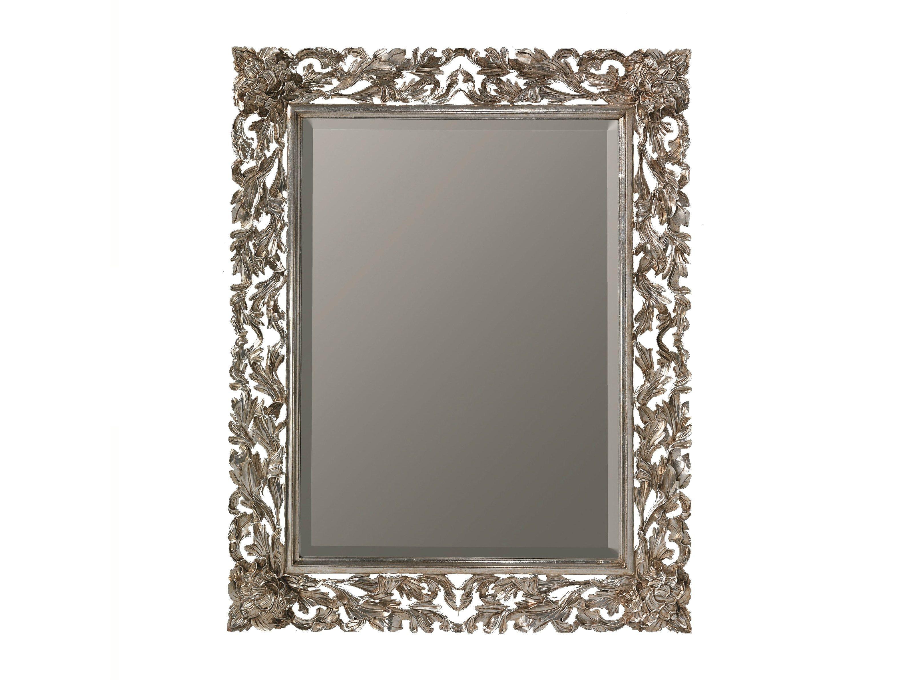 Specchio rettangolare con cornice olivier by bleu provence for Specchio rotondo antico
