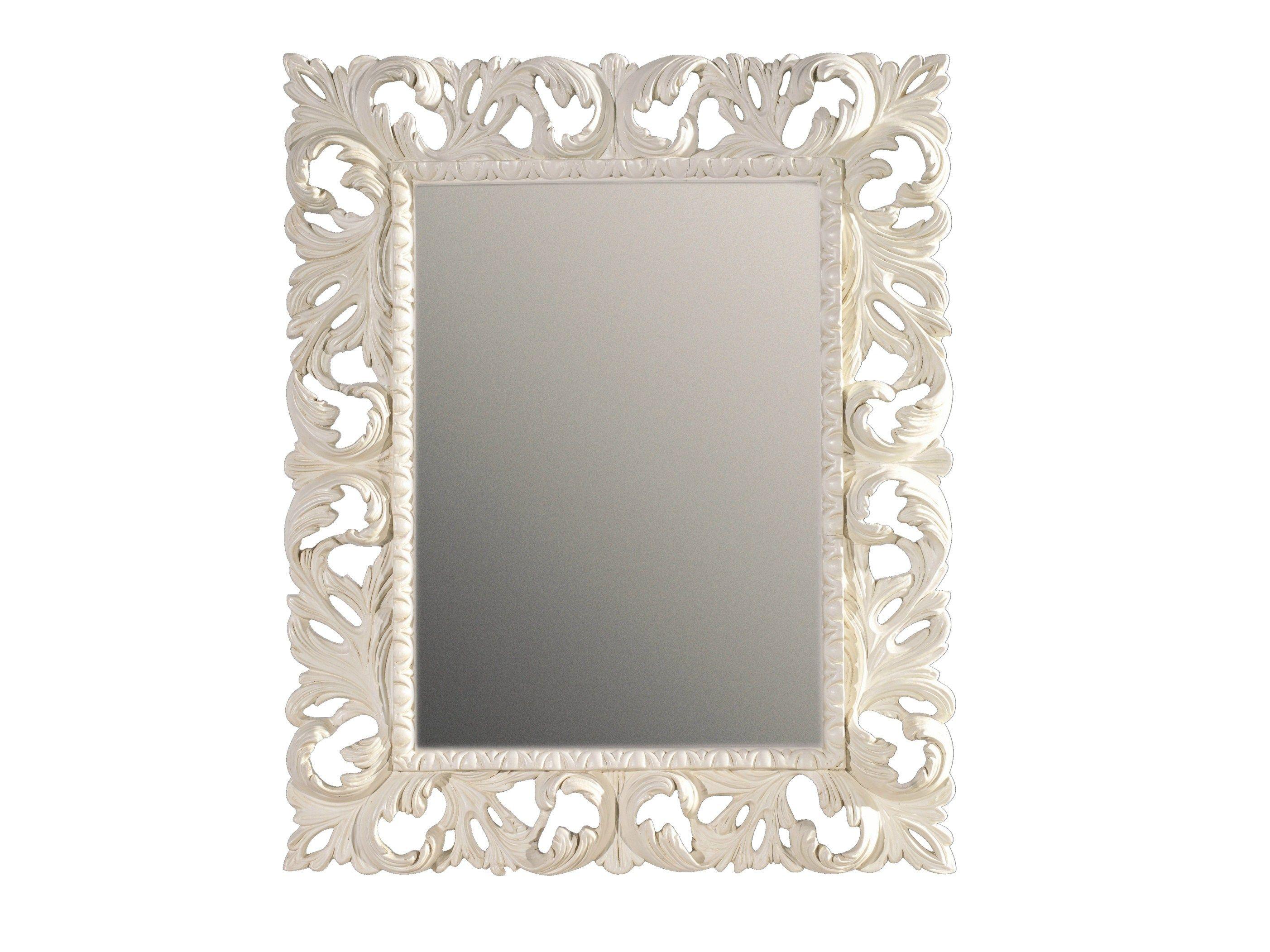 Specchio rettangolare con cornice mauve by bleu provence for Scarpiera a specchio leroy merlin
