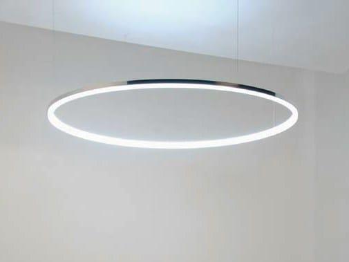 led aluminium pendant lamp circolo mini by sattler. Black Bedroom Furniture Sets. Home Design Ideas