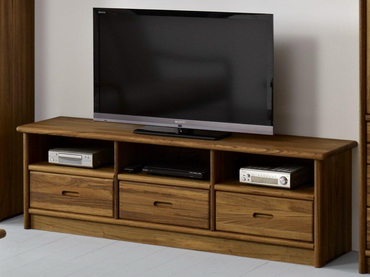 Tv3 3 meuble tv by dyrlund for Meuble tele en bois