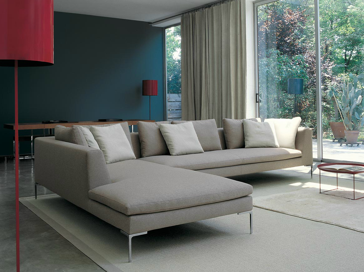 Bu0026B Italia Charles Sofa With Chaise | Living Room | Pinterest | Italia,  Charles Charles And Bo Concept