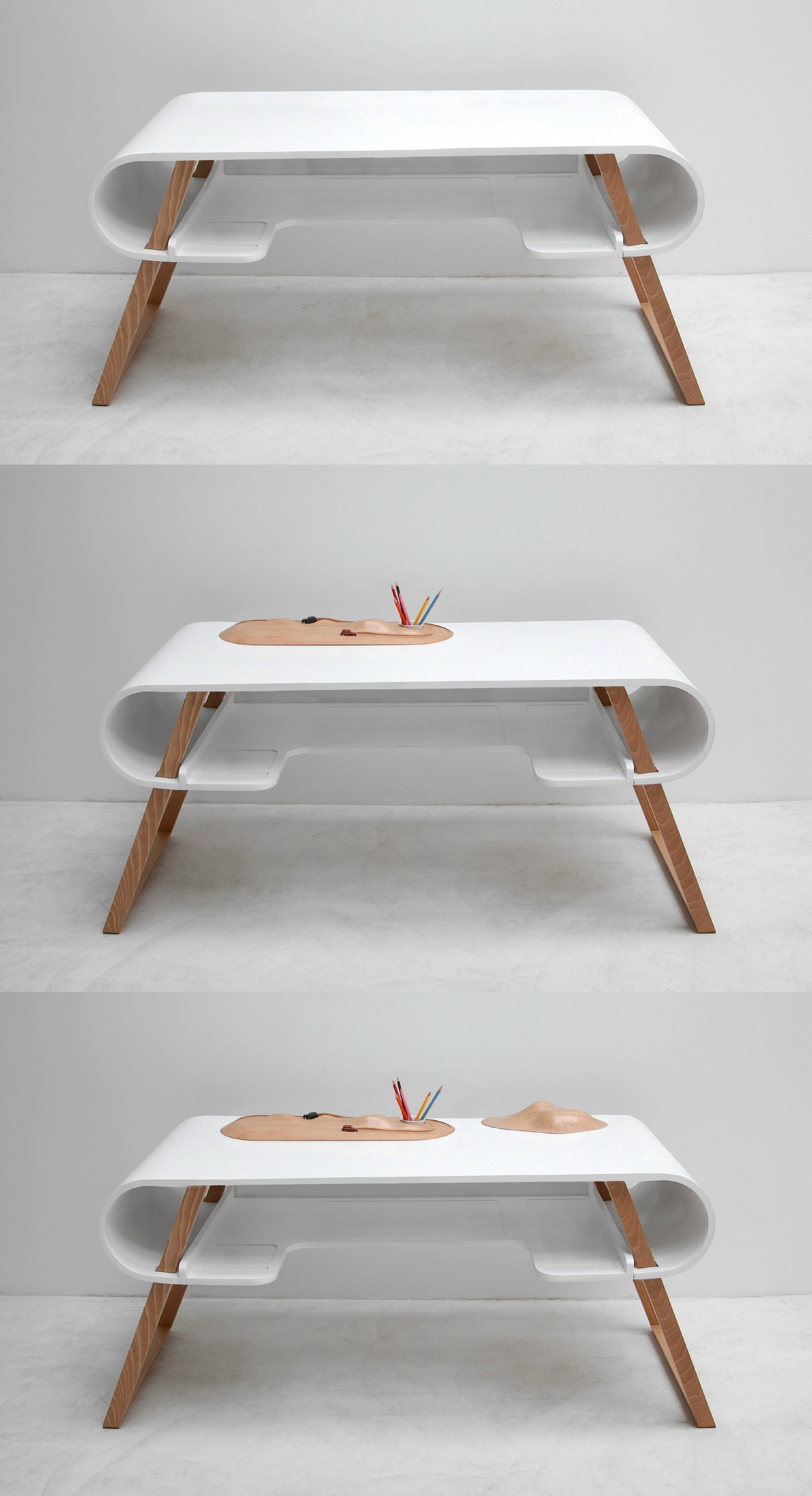 Superb img of MDF kids writing desk RUBENS by Compagnie design Jean François  with #492A16 color and 2084x3839 pixels