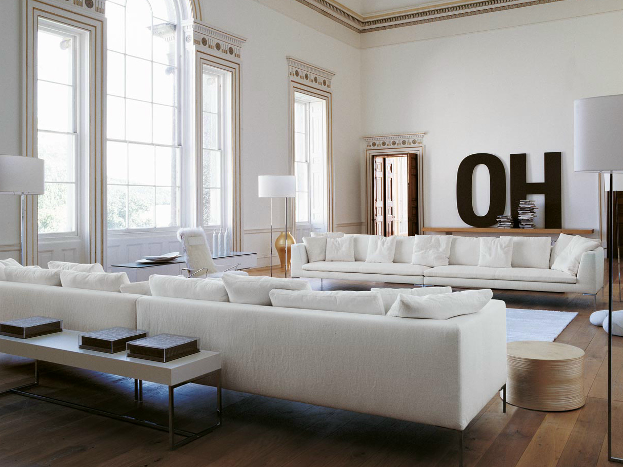 Charles large sofa by b b italia design antonio citterio - B b italia design ...