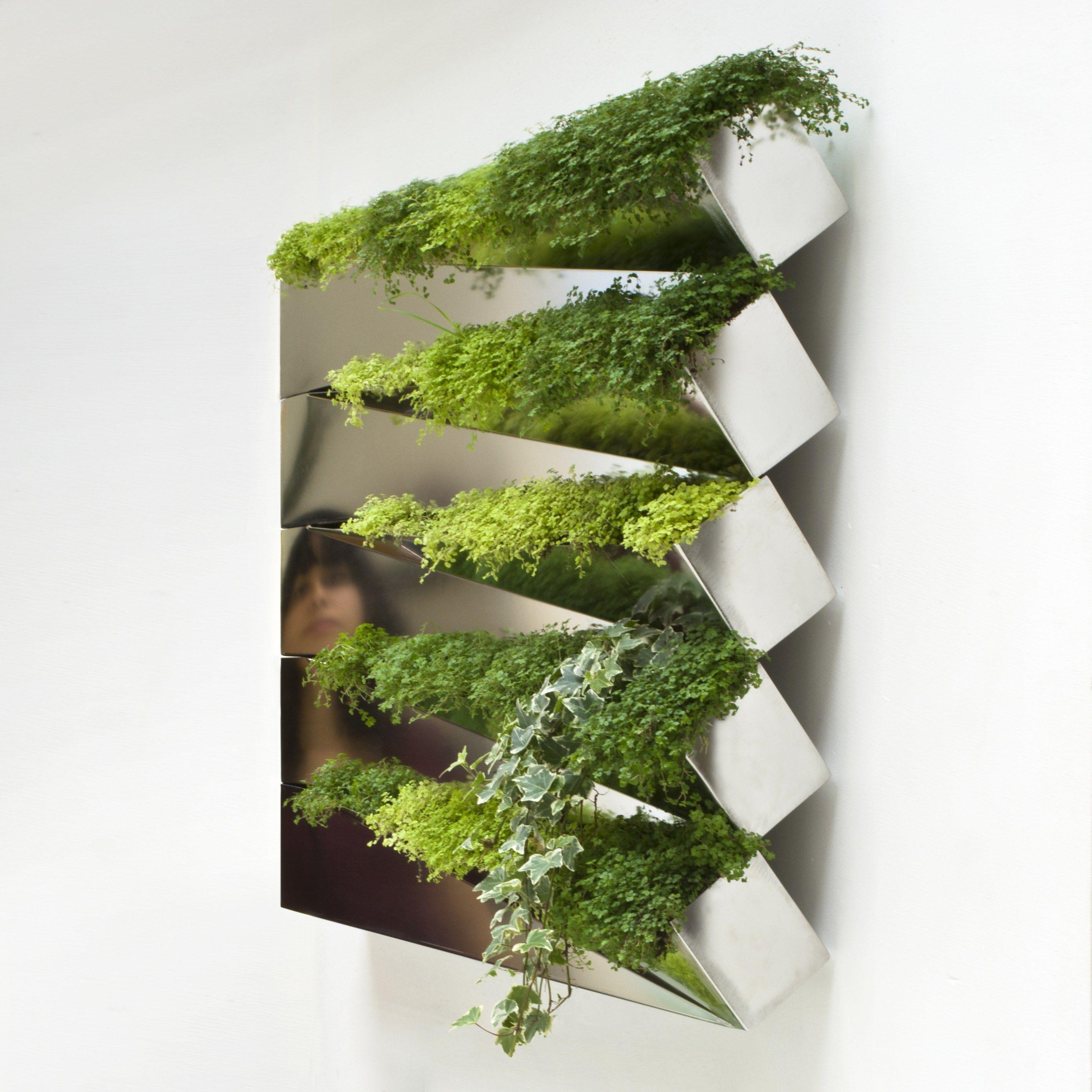 stainless steel vase miroir en herbe by compagnie design jean  - stainless steel vase miroir en herbe by compagnie design jeanjacques hubert