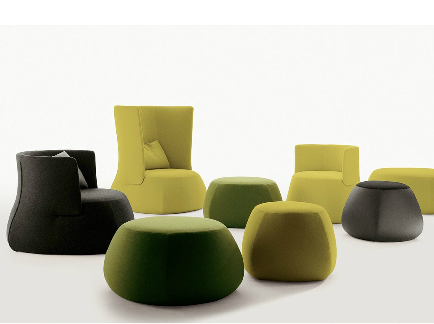 fat sofa pouf by b b italia design patricia urquiola. Black Bedroom Furniture Sets. Home Design Ideas