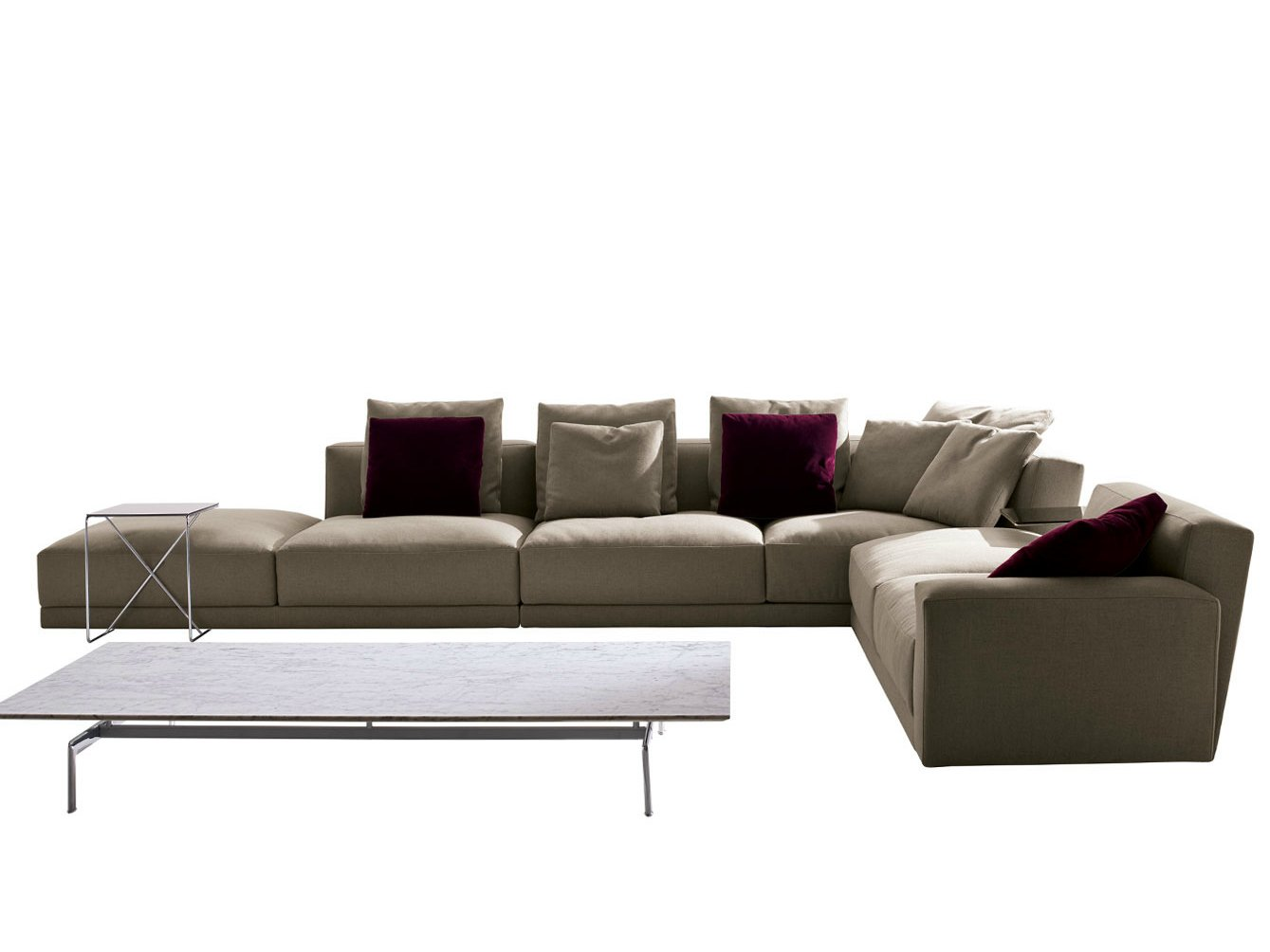 luis fabric sofa by b b italia design antonio citterio. Black Bedroom Furniture Sets. Home Design Ideas