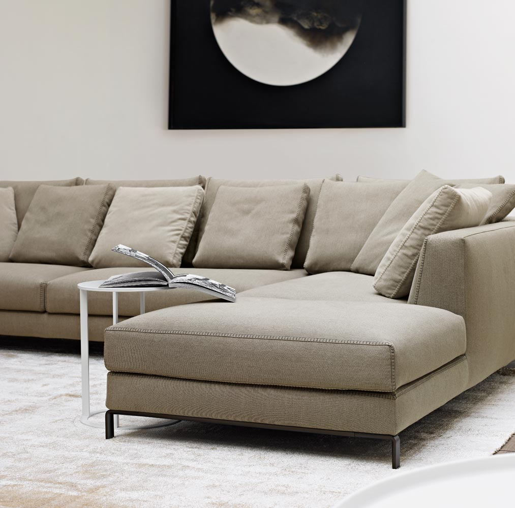 Corner Sectional Upholstered Fabric Sofa Ray Collection By B B Italia Design Antonio Citterio