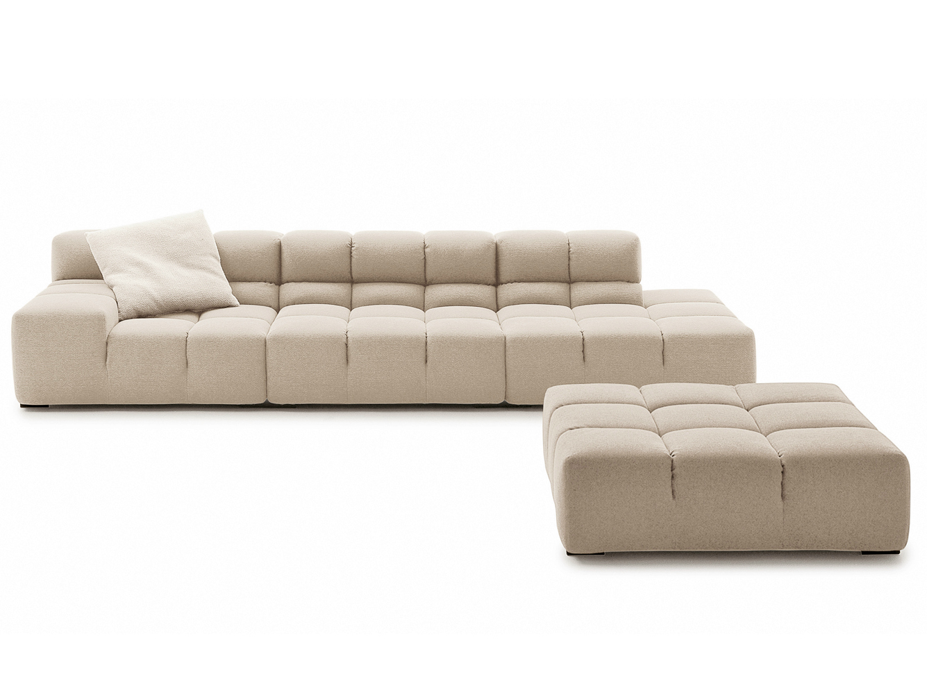 sectional upholstered fabric sofa tufty time collection by