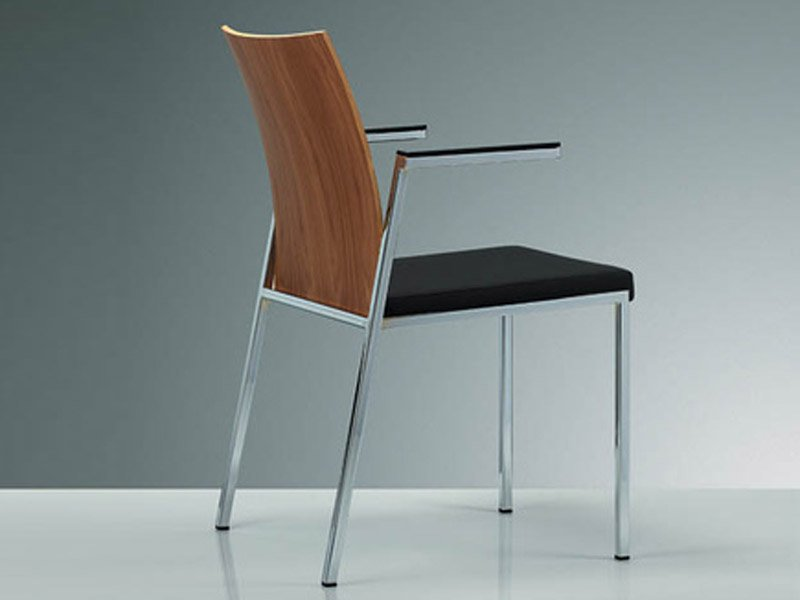 Milano classic chaise avec accoudoirs by brunner design - Chaise visiteur avec accoudoirs ...