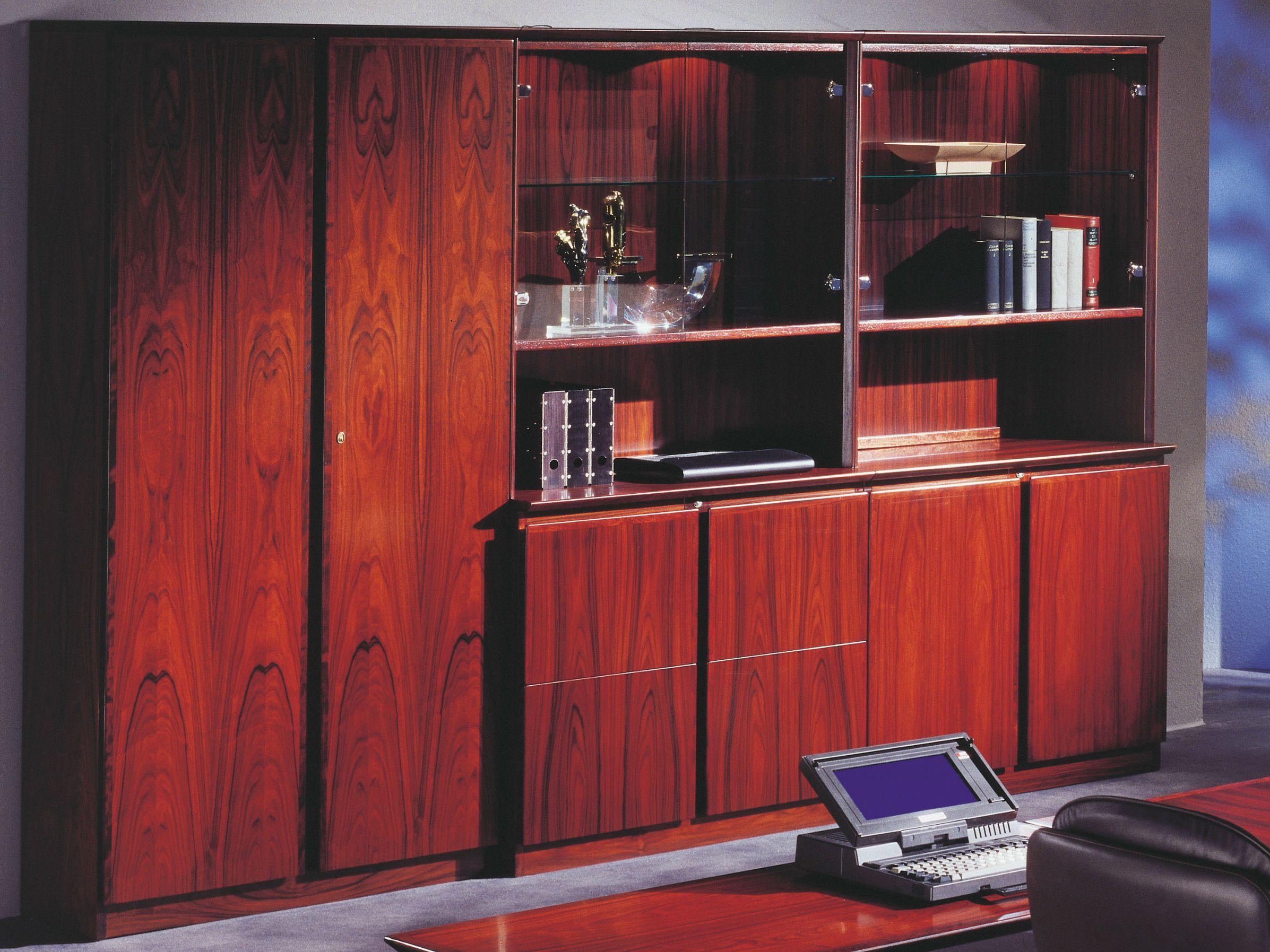 Módulo de arrumação de parede / armário de escritório de madeira  #A1342A 2393x1795