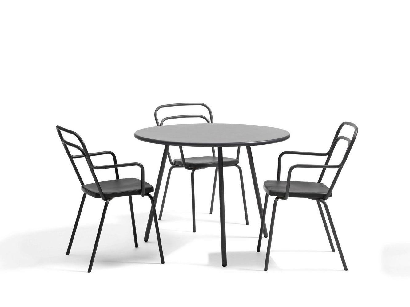 Kaffe tavolo da giardino rotondo by bl station design thomas bernstrand - Tavolo rotondo da giardino ...