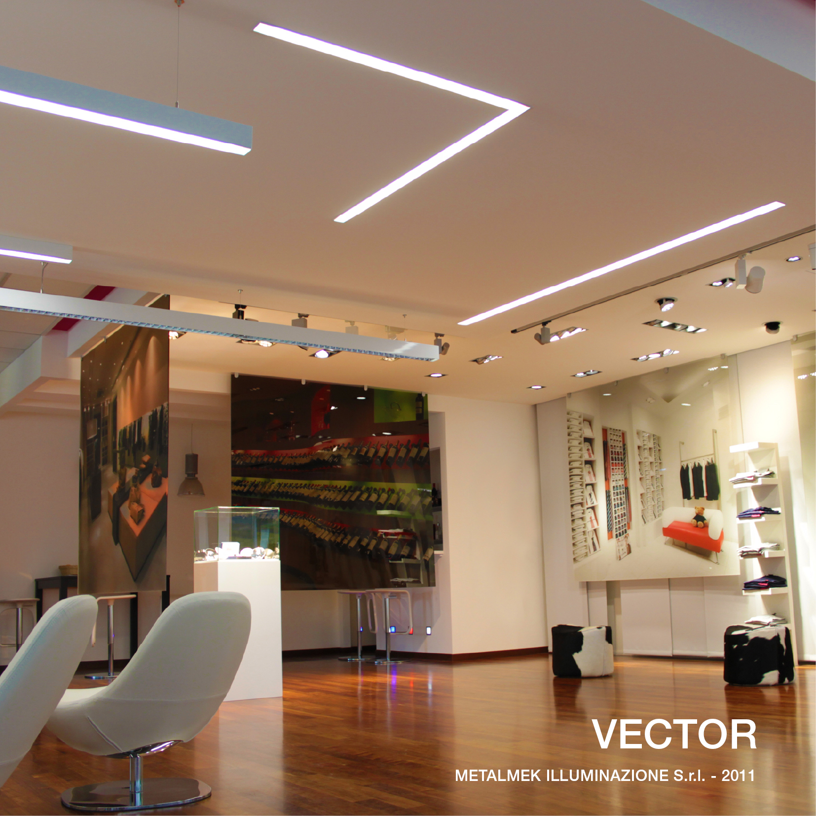 Extruded aluminium built-in lamp VECTOR by METALMEK ILLUMINAZIONE