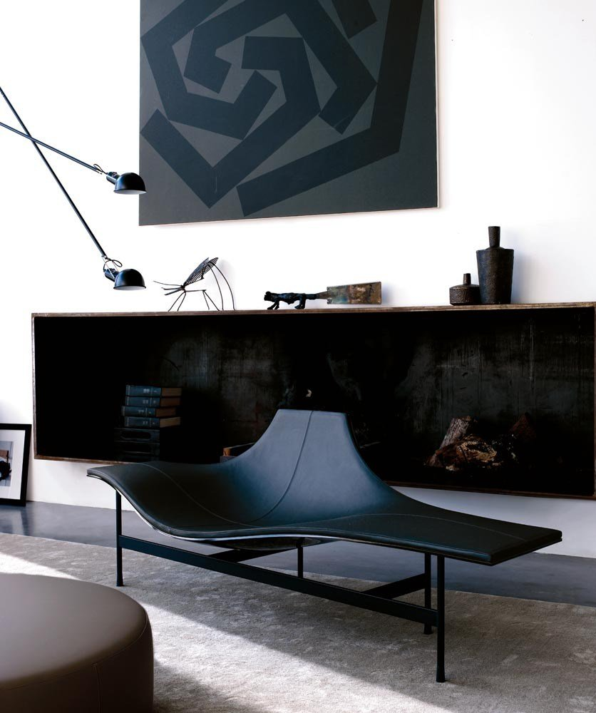 leather lounge chair terminal 1 by b b italia design jean. Black Bedroom Furniture Sets. Home Design Ideas