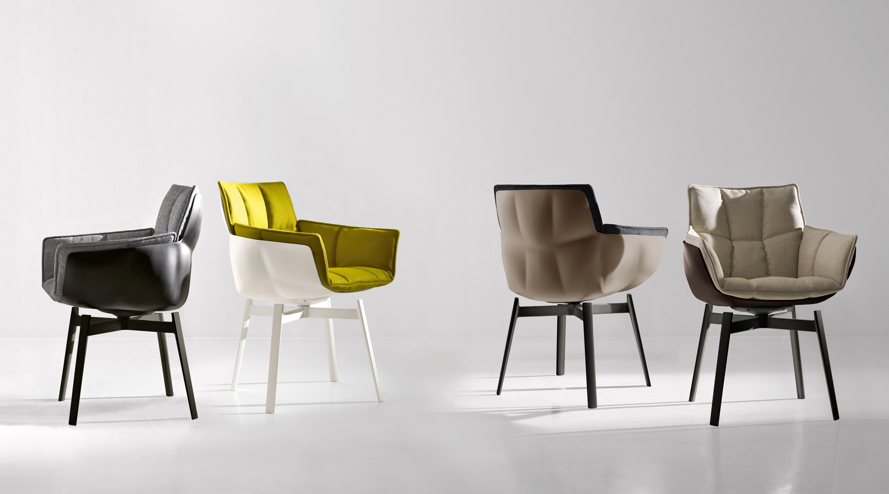 HUSK Fabric Chair By B&B Italia Design Patricia Urquiola