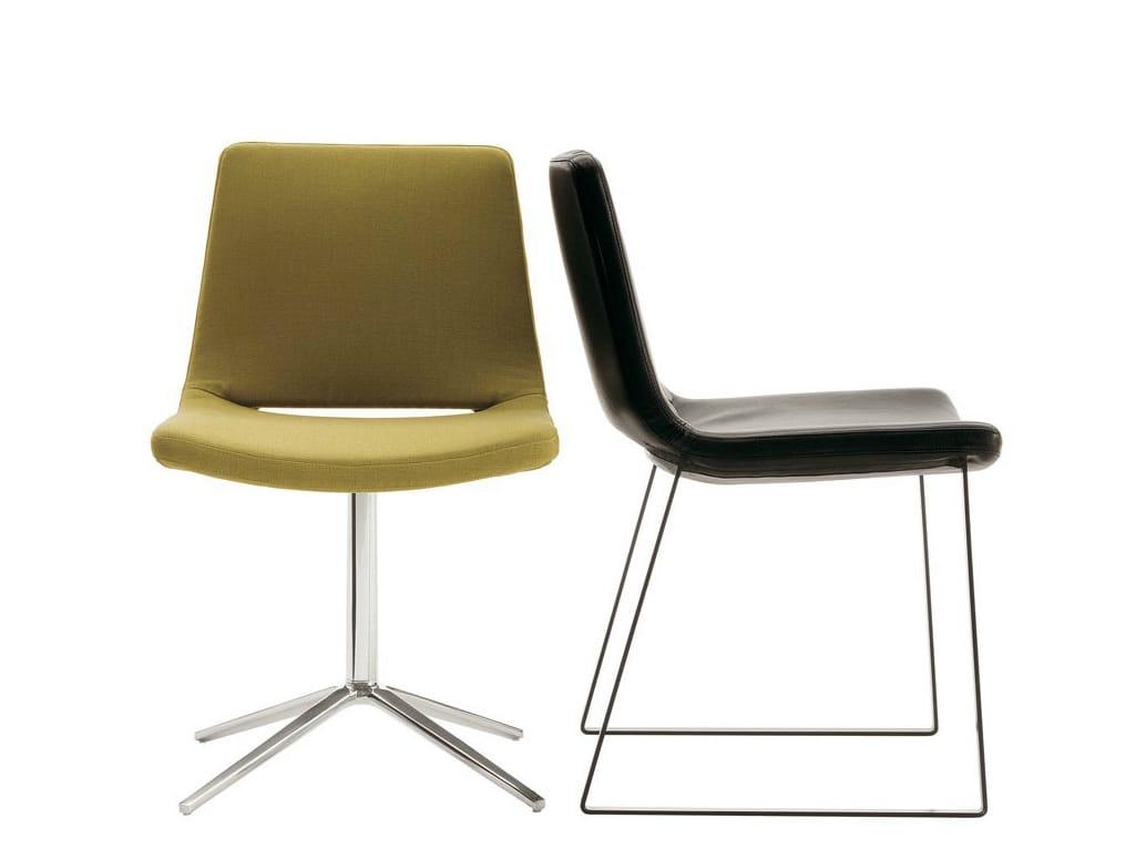 METROPOLITAN Chair with 4 spoke base by B&B Italia design