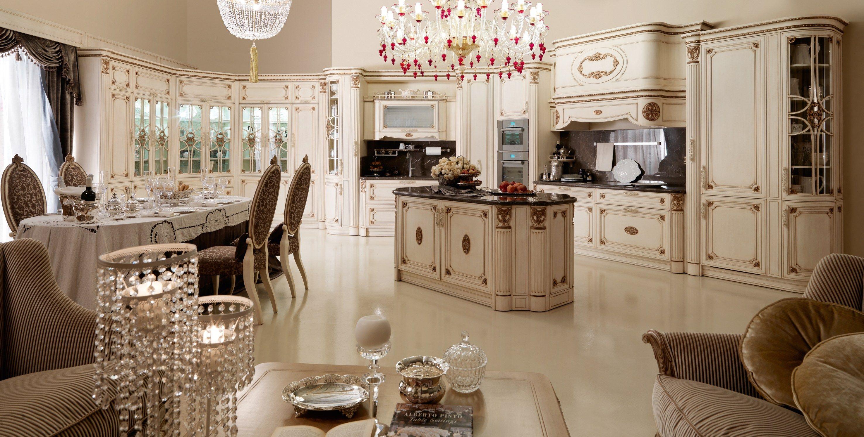 Cucina In Stile Classico Con Isola IMMAGINA By Martini Mobili #A2293B 2953 1496 Stile Classico Cucina