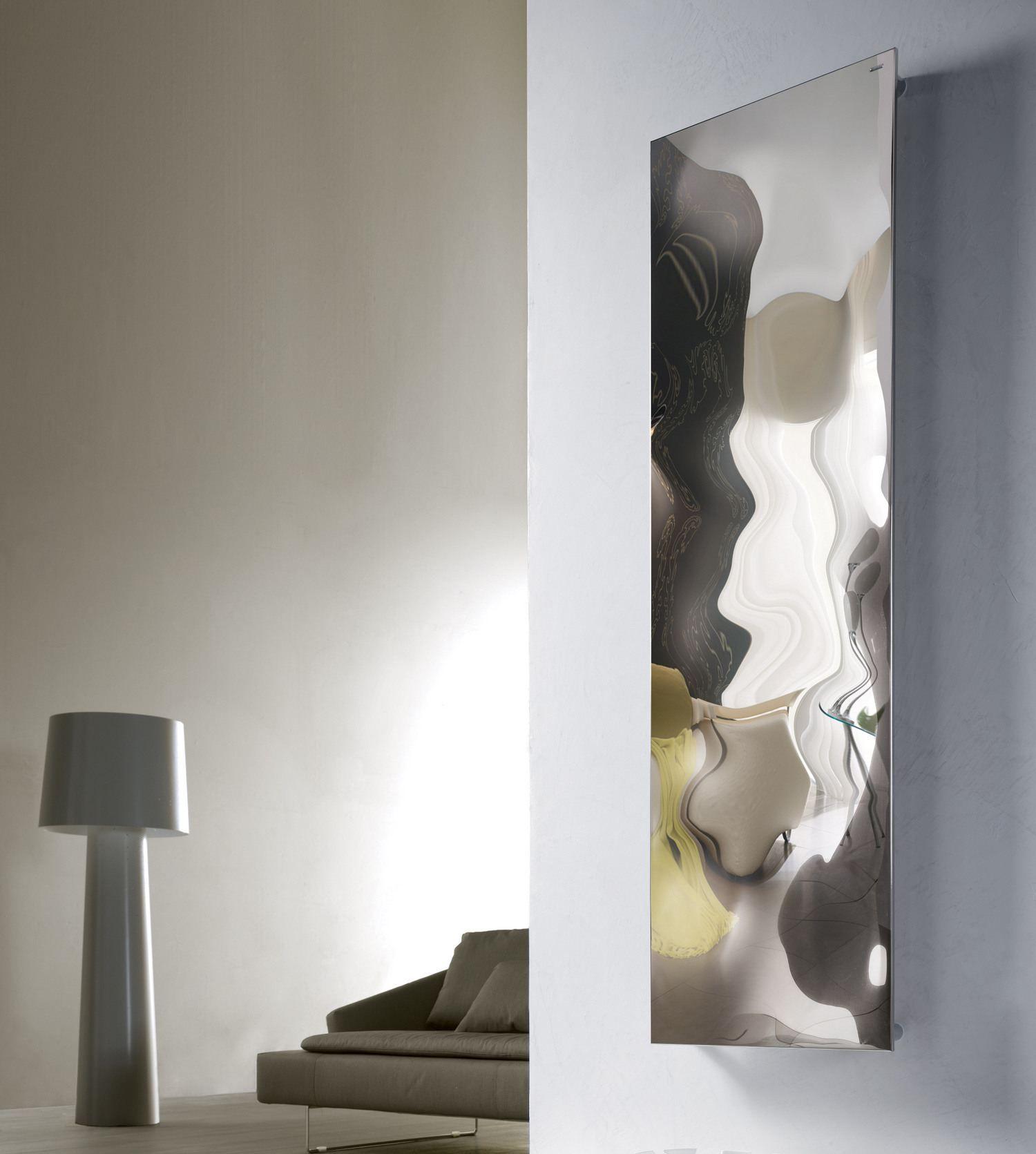 Termoarredo in acciaio lucido blow vt by cordivari design jean marie massaud - Radiatori bagno orizzontali ...
