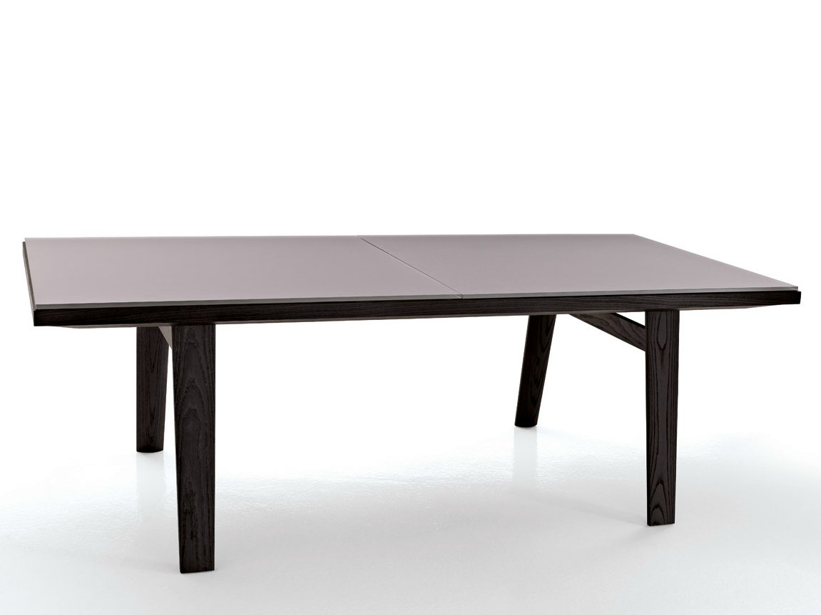 table extensible rectangulaire en verre hans table extensible collection hans by b b italia. Black Bedroom Furniture Sets. Home Design Ideas