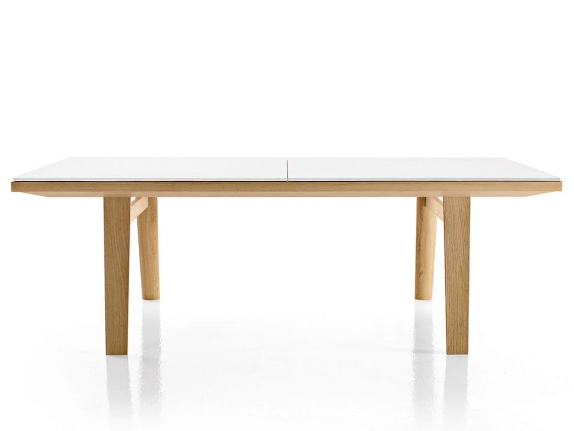 Table extensible rectangulaire en verre hans table - Table rectangulaire extensible ...