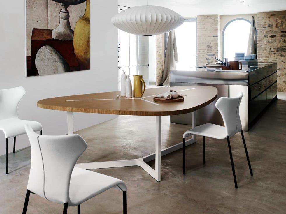 Tavolo con piano in mdf seven by b b italia design jean marie massaud - B b italia design ...