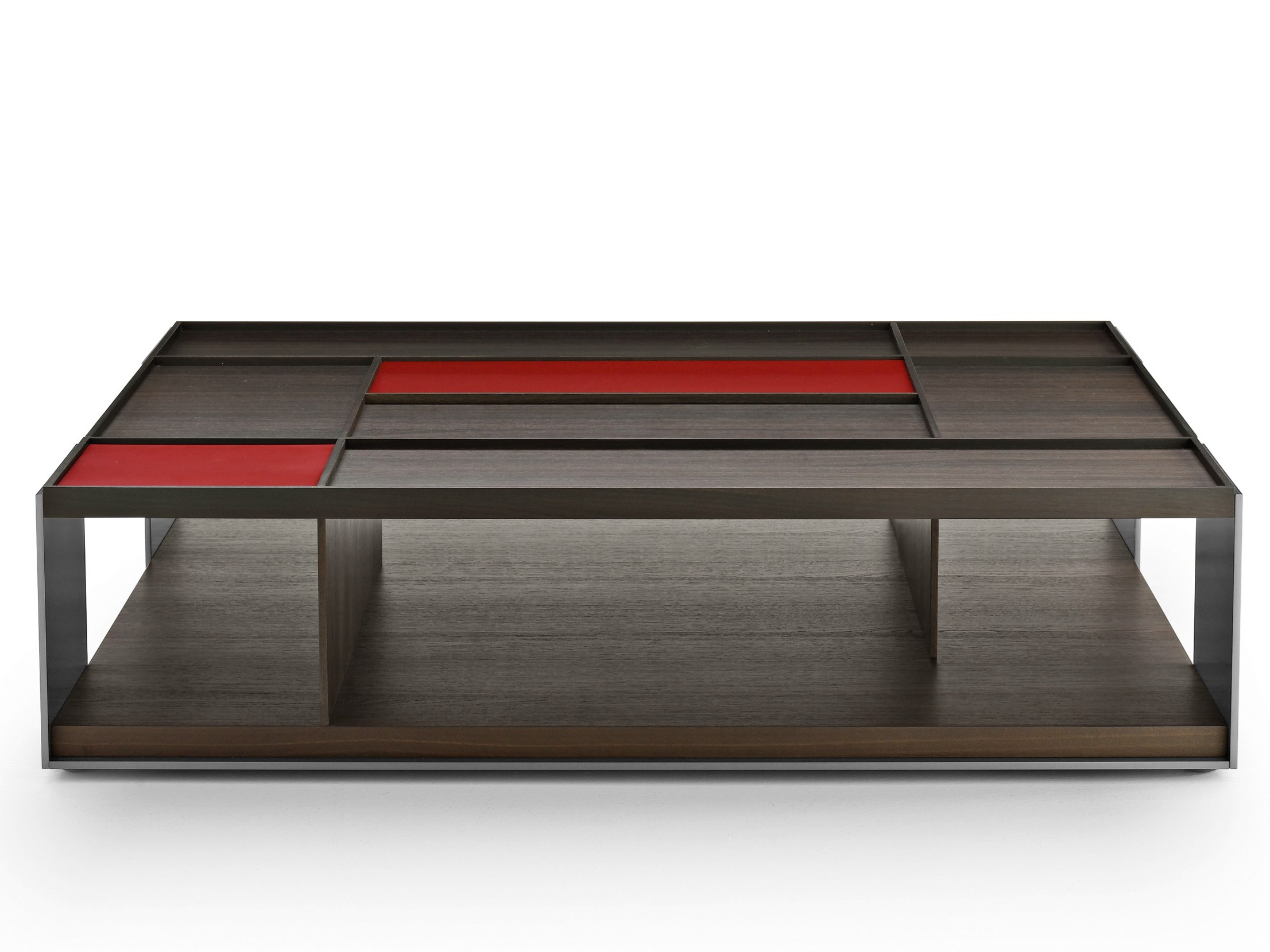 Low Rectangular Wooden Coffee Table Surface Surface Collection By B B Italia Design Vincent