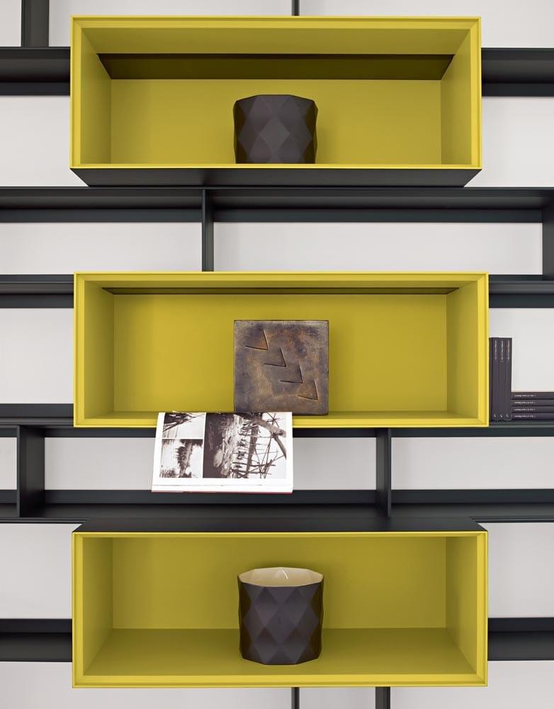 Open sectional bookcase flat c by b b italia design antonio citterio - B b italia design ...
