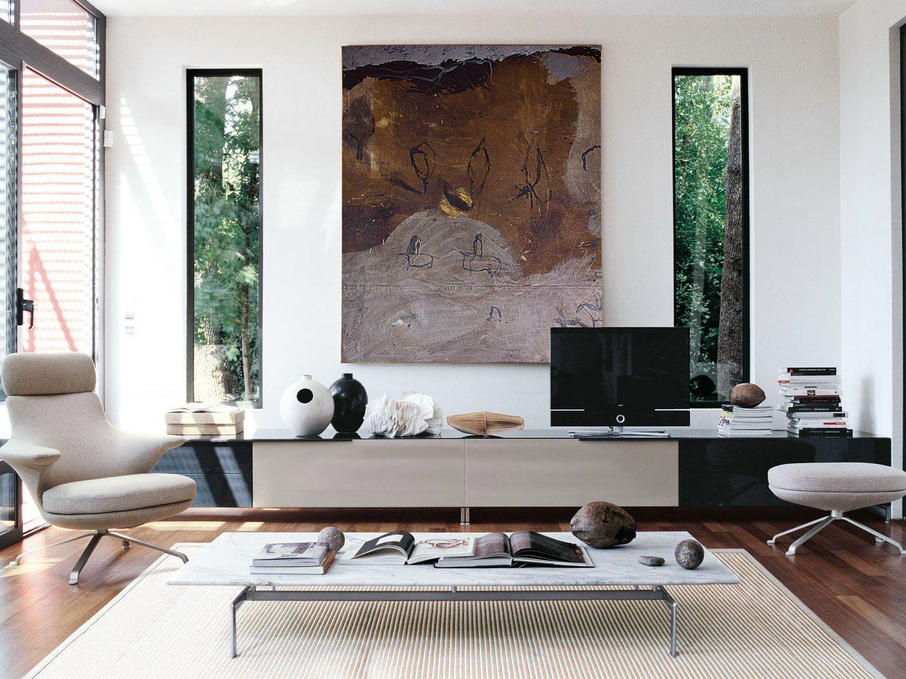 athos mueble tv bajo by b b italia dise o paolo piva. Black Bedroom Furniture Sets. Home Design Ideas