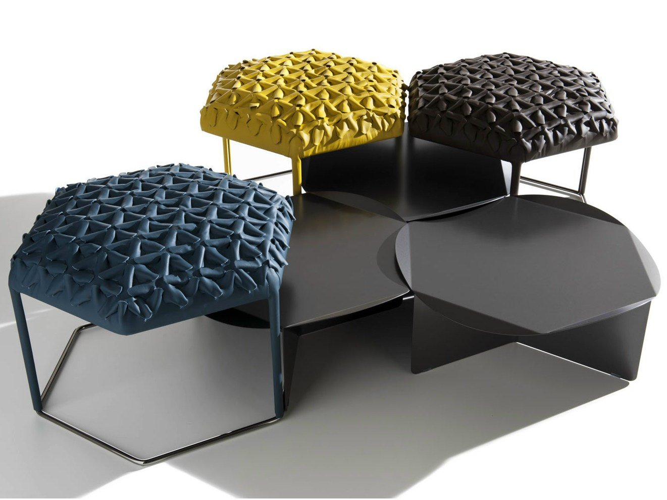 Pouf coffee table hive by b b italia design atelier o - Design pouf ...