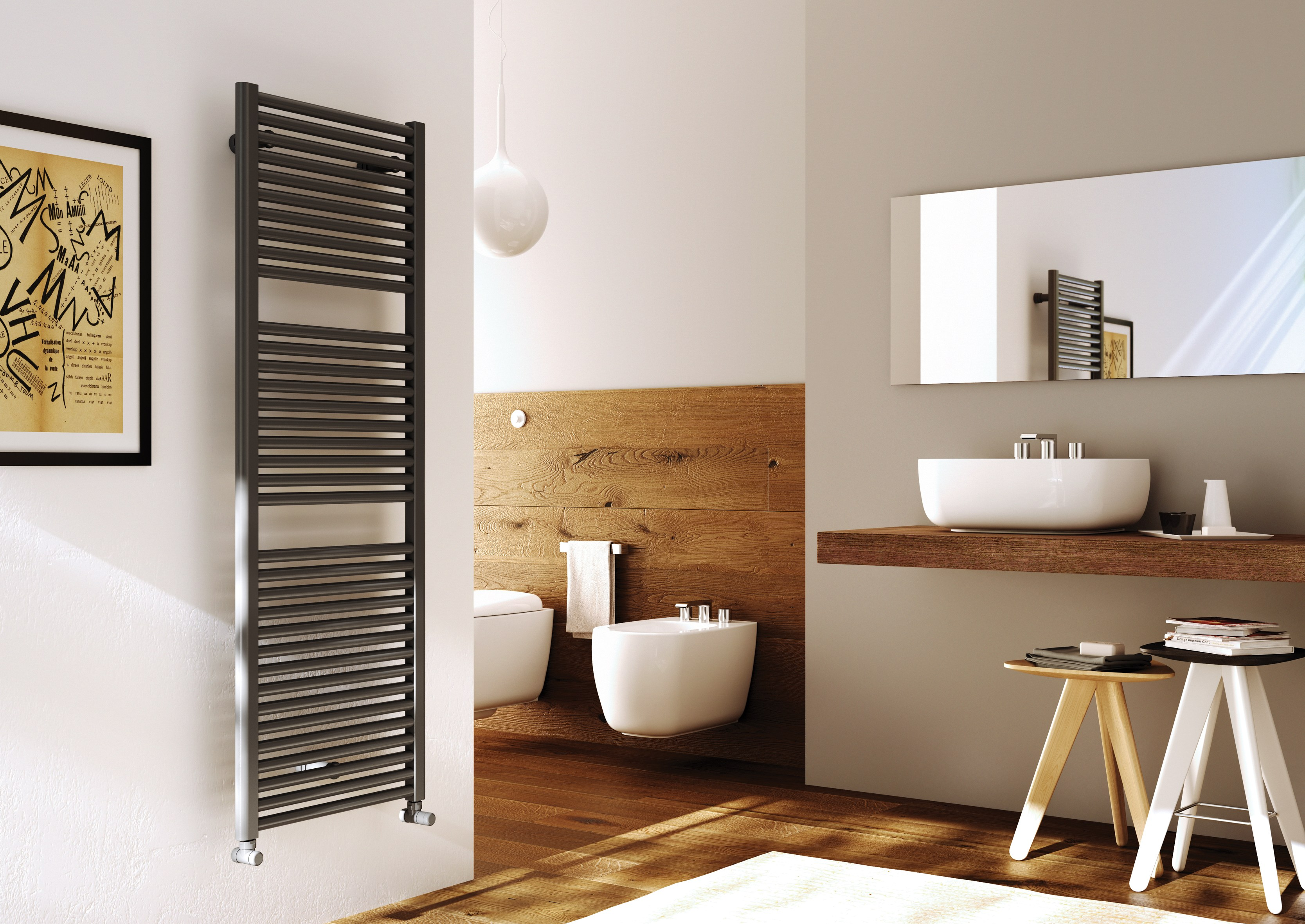 Wall Mounted Towel Warmer Claudia 174 Towel Rails Collection