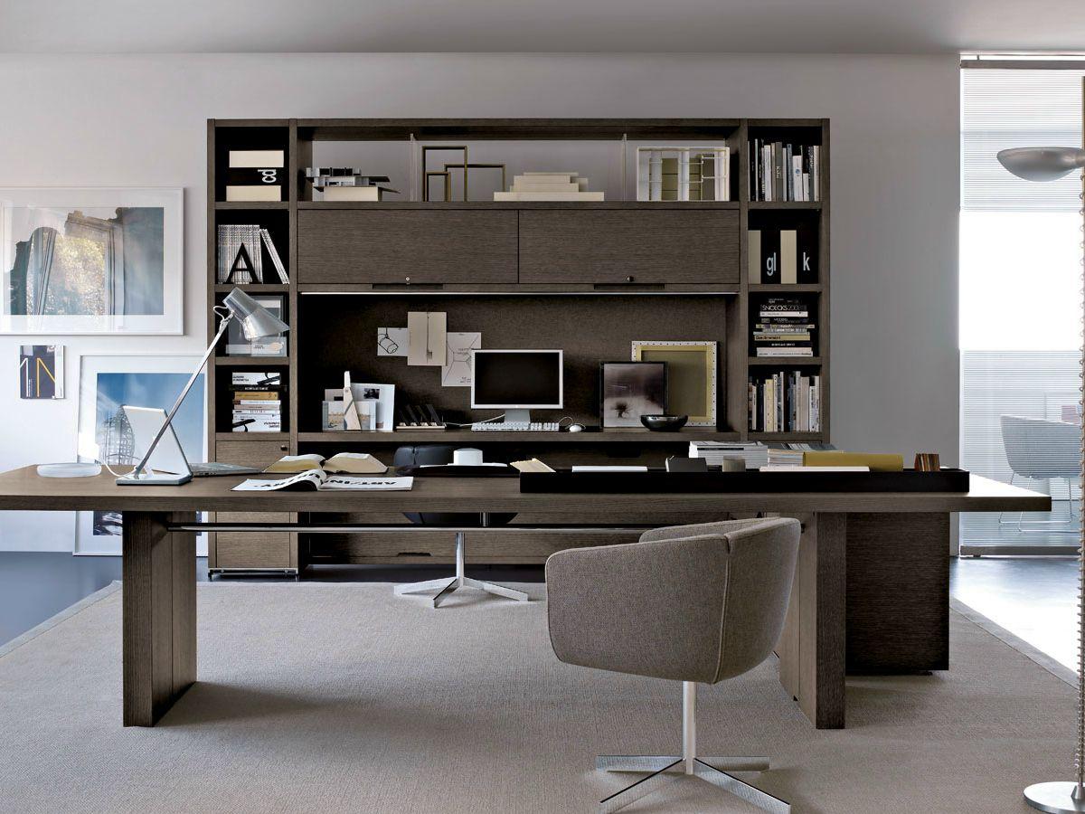 Rectangular executive desk ac executive collection by b b for Executive office design gallery