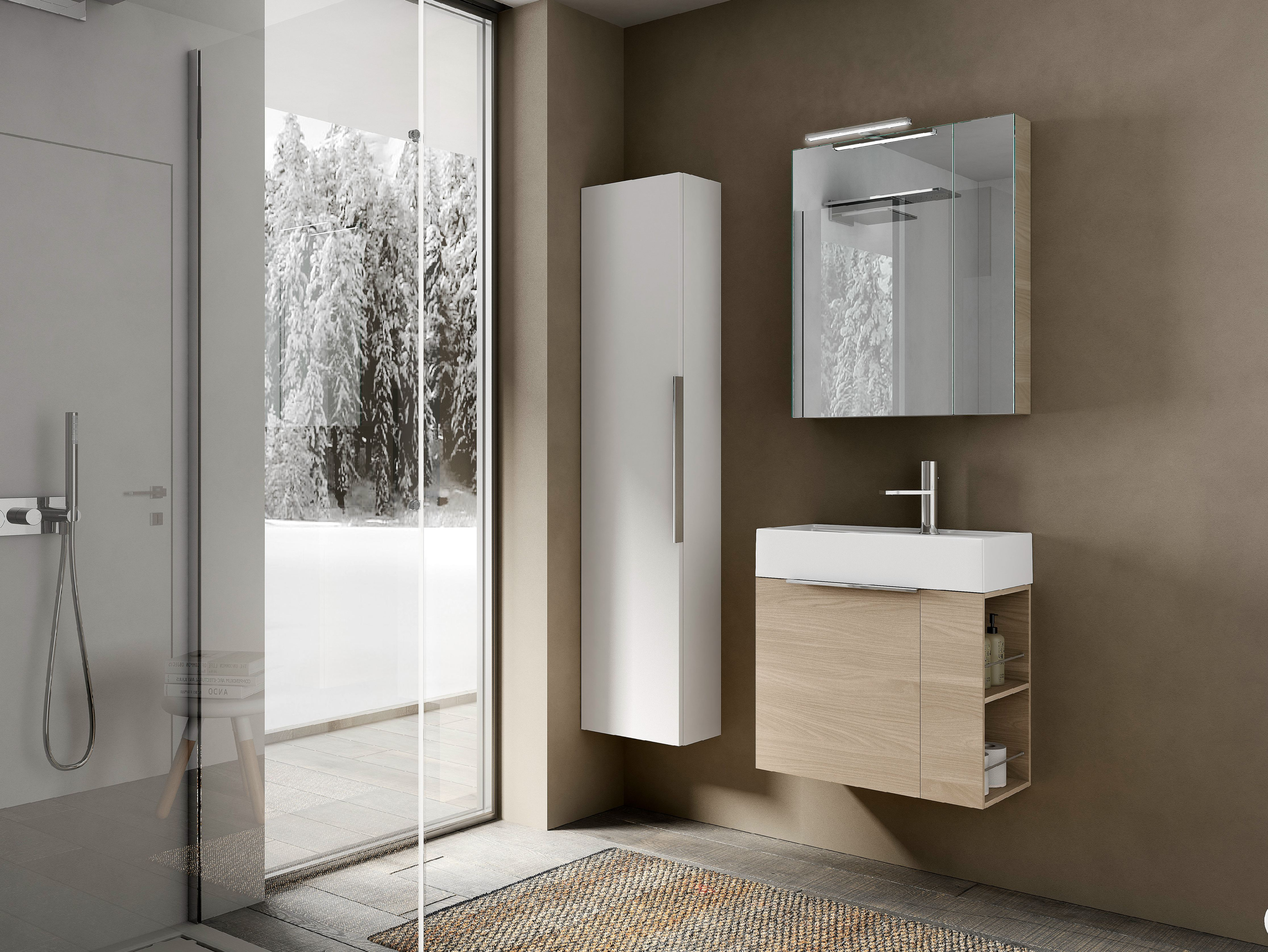 Mobile lavabo con armadio my time 10 by ideagroup for Mobile lavabo