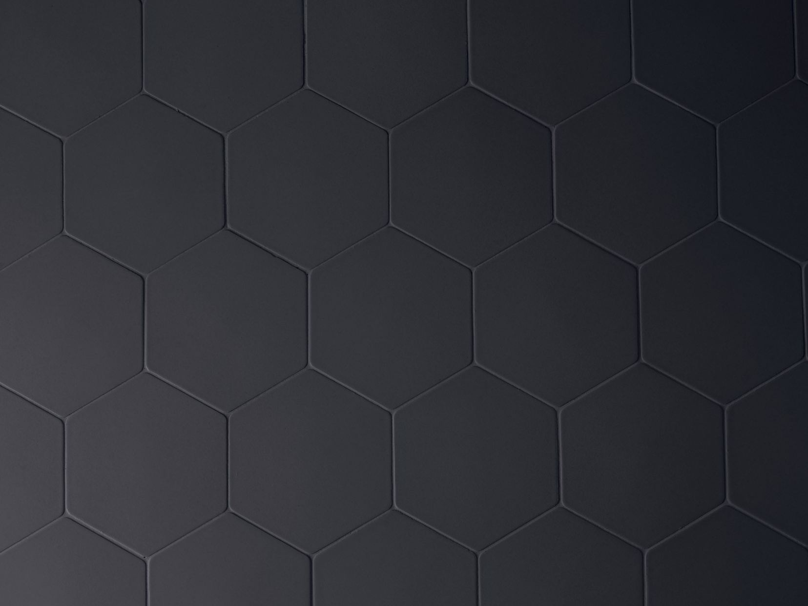 Rev tement mural en gr s c rame phenomenon hexagon nero by mutina design tokujin yoshioka - Textuur carrelage noir ...