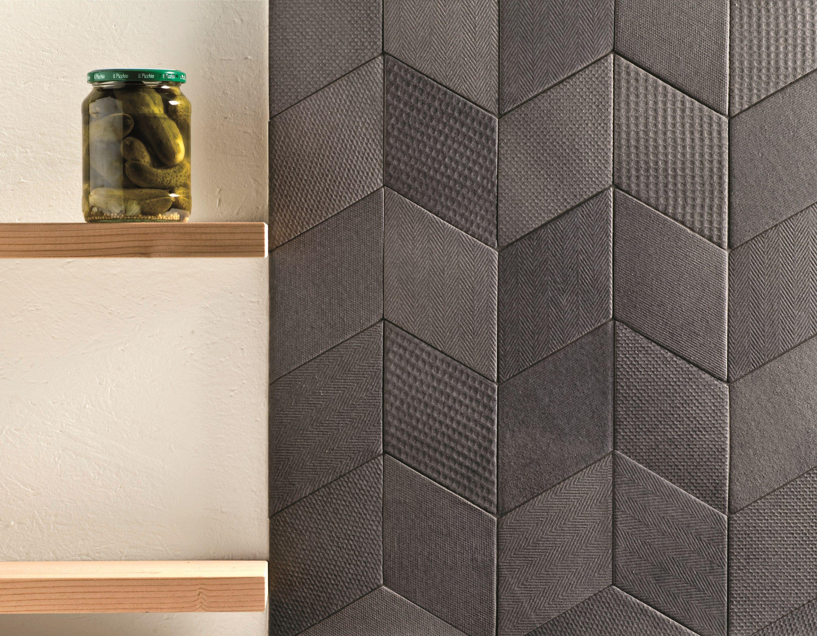 Indoor Porcelain Stoneware Wall Floor Tiles Tex Black By