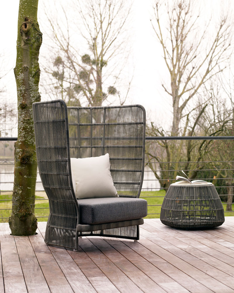 canasta 39 13 garden armchair by b b italia outdoor a brand. Black Bedroom Furniture Sets. Home Design Ideas
