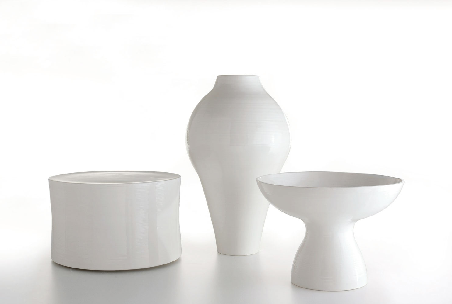 Ceramic vase white collection white collection by b b for B b outdoor