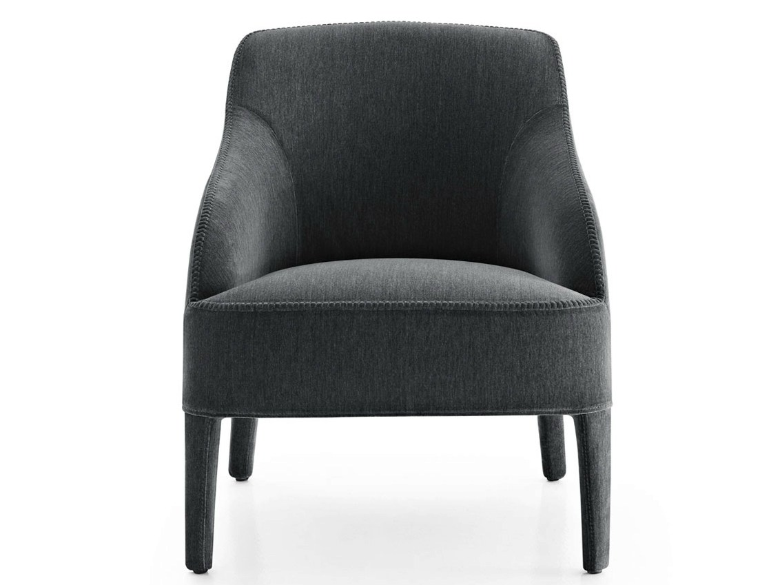 Upholstered fabric armchair with armrests febo 2014 by for Small fabric chair