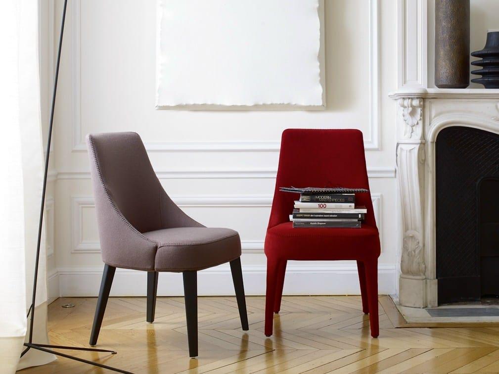 Gepolsterter stuhl aus stoff kollektion febo by maxalto a for B b italia spa