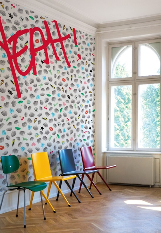 writing yeah by wall dec design lorenzo de grandis