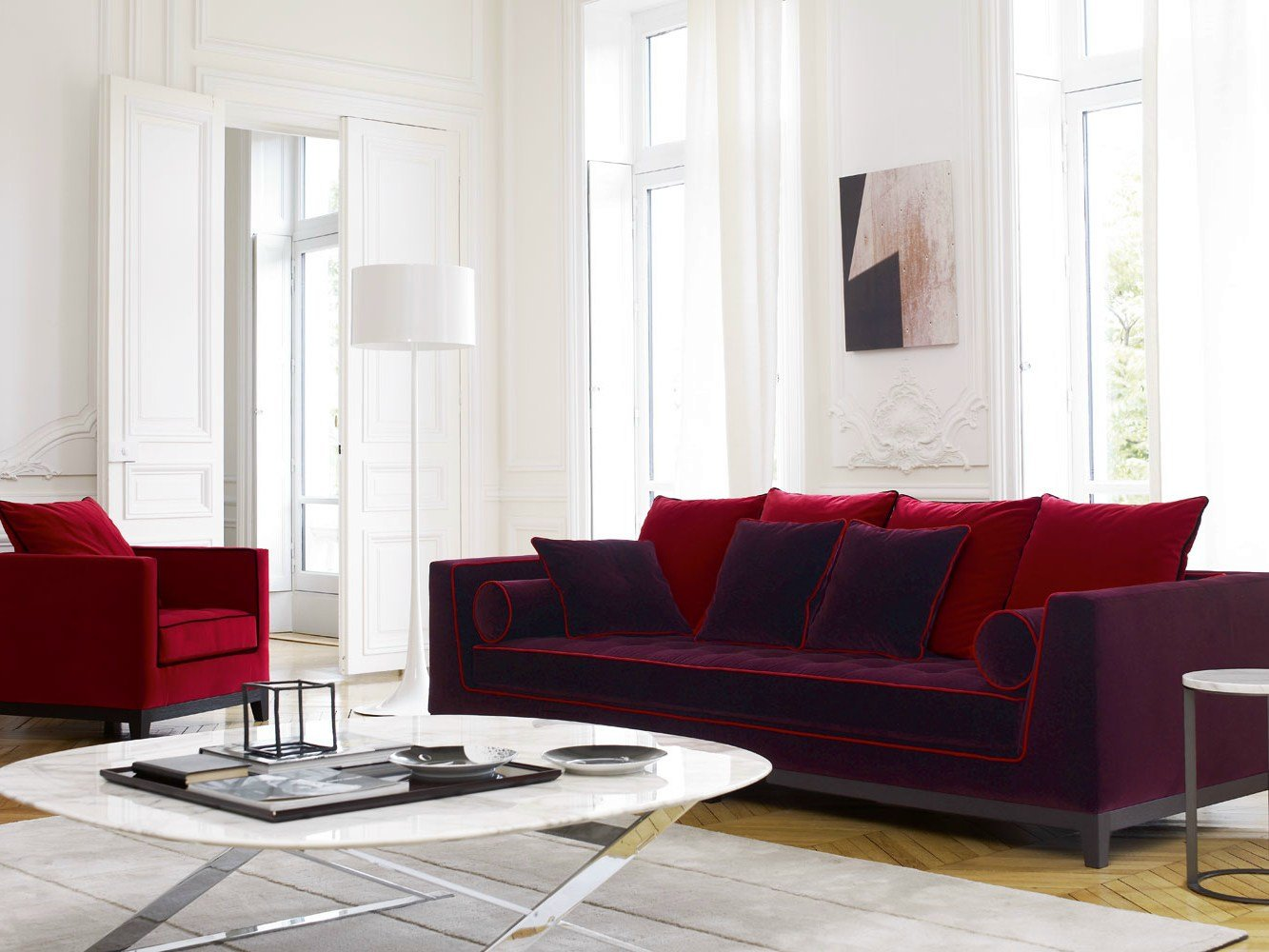 Fabric sofa lutetia 2011 by maxalto a brand of b b italia for B b italia maxalto sofa