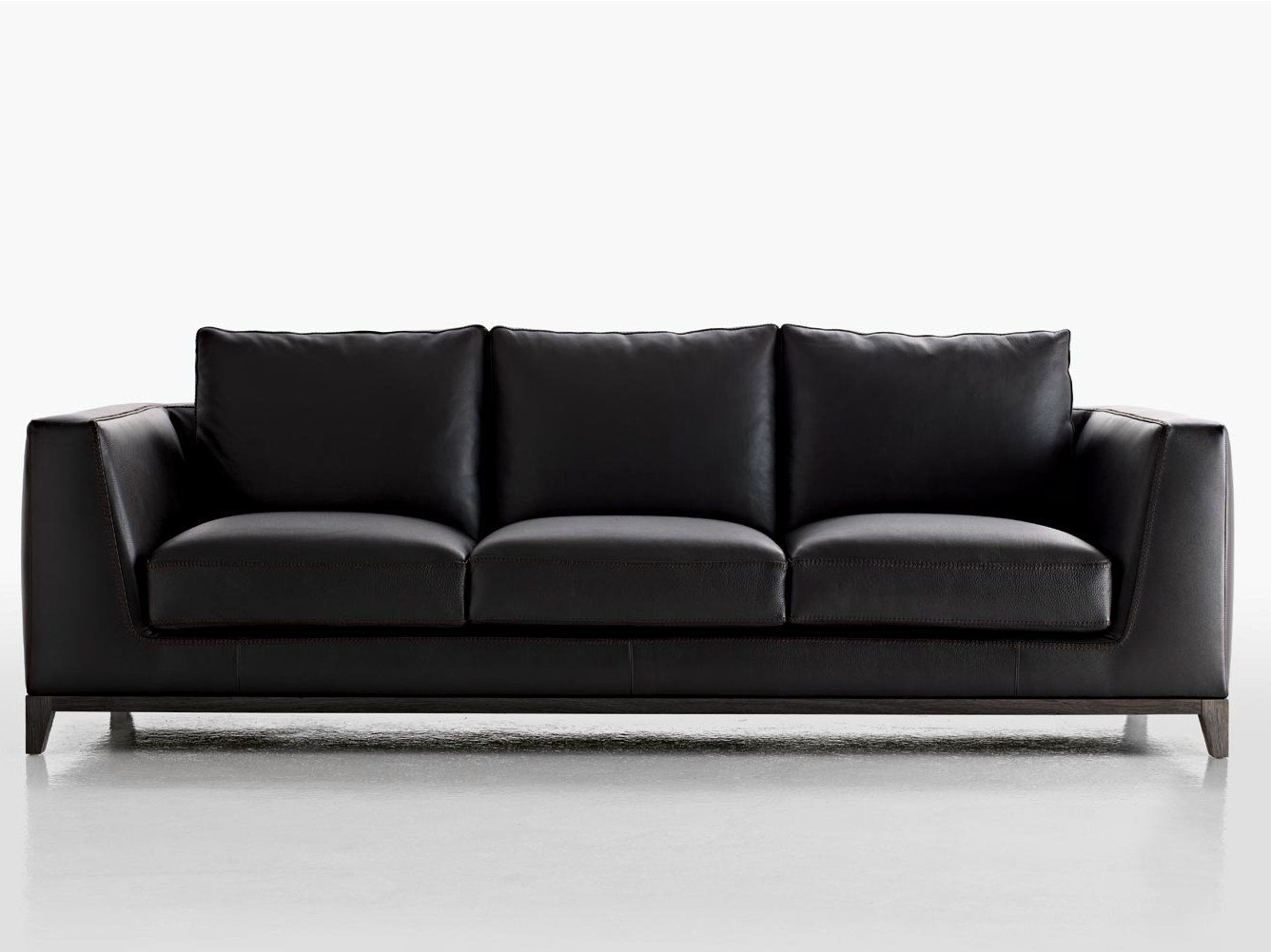3 seater upholstered leather sofa lutetia collection by for B b italia maxalto sofa
